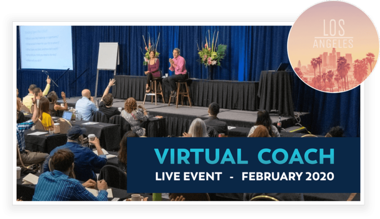 A ticket to Virtual Coach Live: