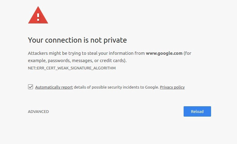 How To Fix Chrome privacy error issue In Google Chrome?